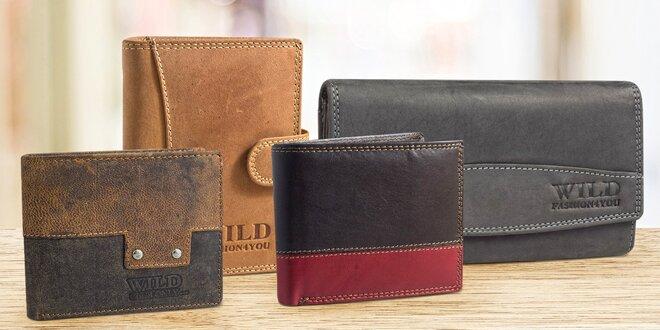 Pánské a dámské peněženky z pravé kůže