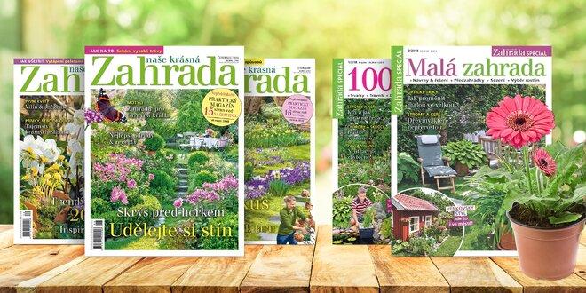 Předplatné časopisu Naše krásná zahrada a bonus