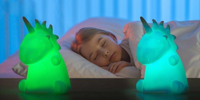 Barevný svítící LED jednorožec: světýlko i hračka