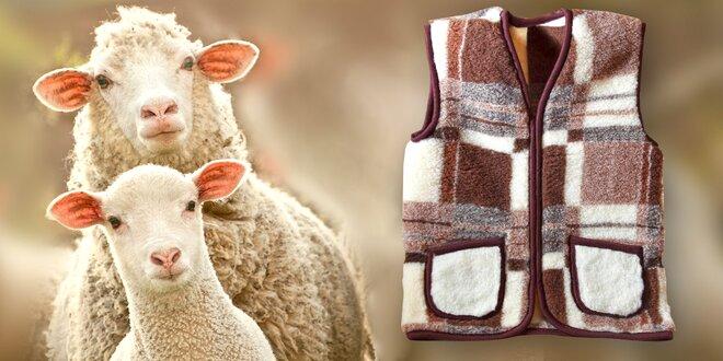Stop zimě: Hřejivá vesta ze 100% ovčí vlny