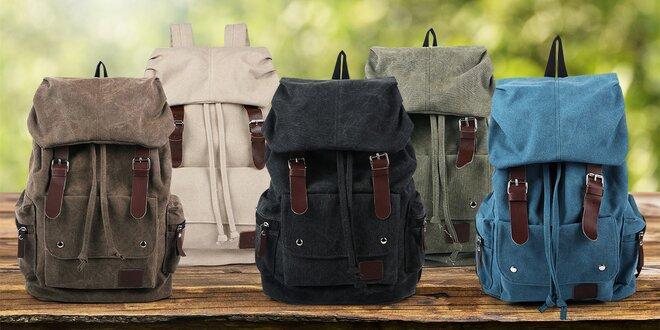Trampský batoh v černé, zelené i modré barvě