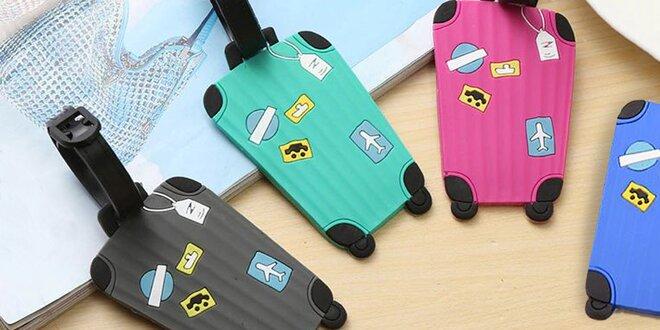 Sada 4 adresních štítků na cestovní zavazadla
