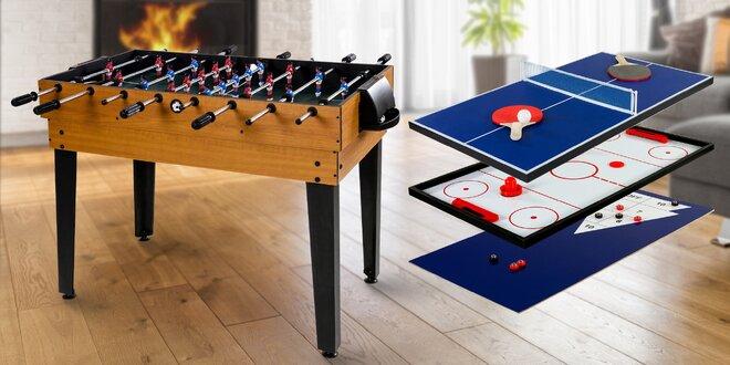 Multifunkční herní stůl s 15 hrami: 3 barvy