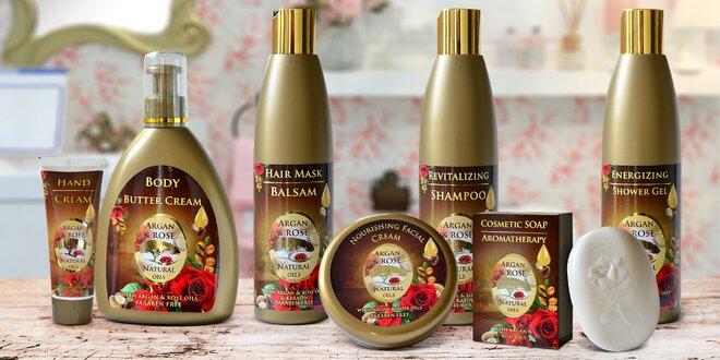 Voňavá kosmetika s arganovým a růžovým olejem