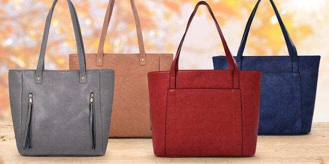 Prostorné dámské kabelky v podzimních barvách
