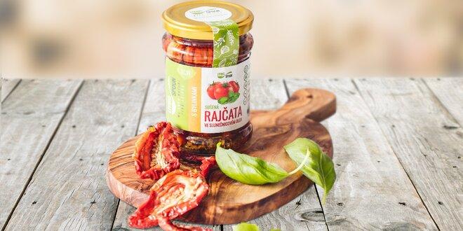 Nakládaná sušená rajčata z Itálie s bylinkami