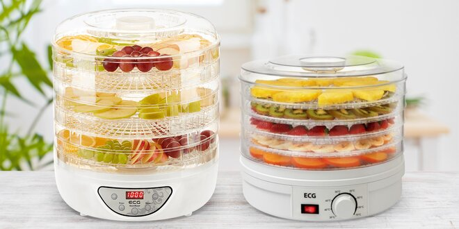 Sušičky ECG na ovoce, zeleninu, houby i maso