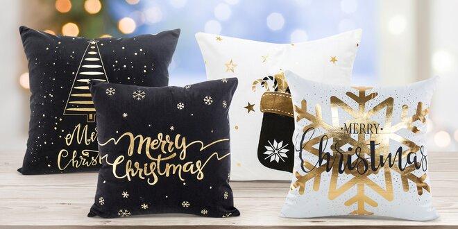 Potahy na polštář s vánočními motivy