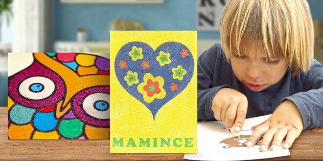 Kreativní sady s barevným pískem nejen pro děti