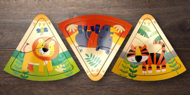Roztomilé puzzle pro děti od 2 let: lev i slon