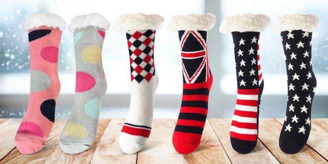 Dámské ponožky s hřejivou podšívkou