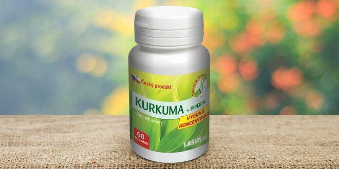 Tablety z kurkumy a piperinu pro podporu trávení