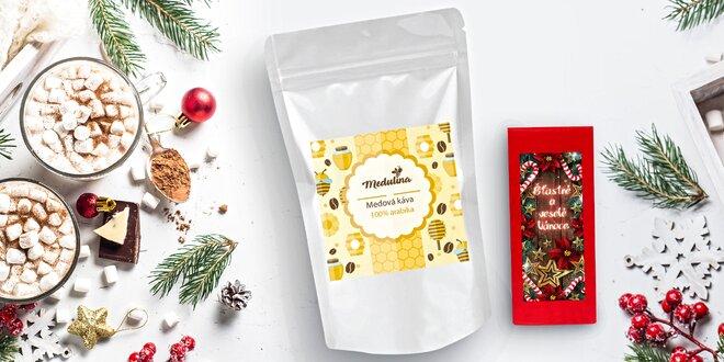 Zrnková káva s příchutí medu a vánoční čaj