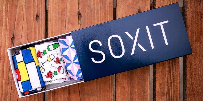 Sety designových ponožek Soxit pro děti i dospělé