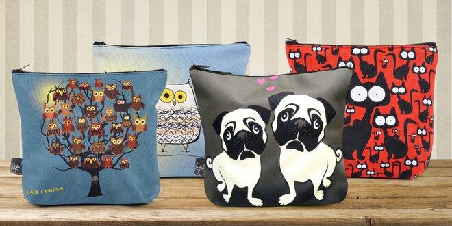 Originální kabelky s potiskem koček, sov i vlka