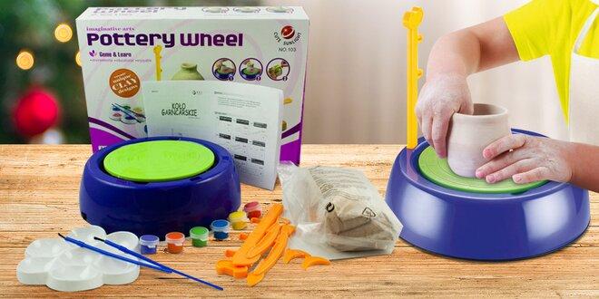 Hrnčířská sada pro děti: kruh i modelovací hmota