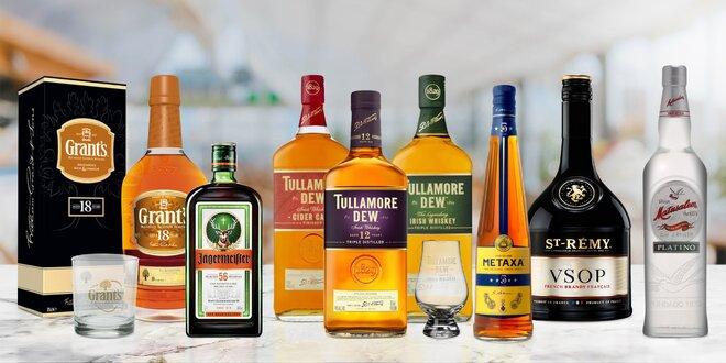 Jägermeister, whisky, Metaxa i francouzské brandy