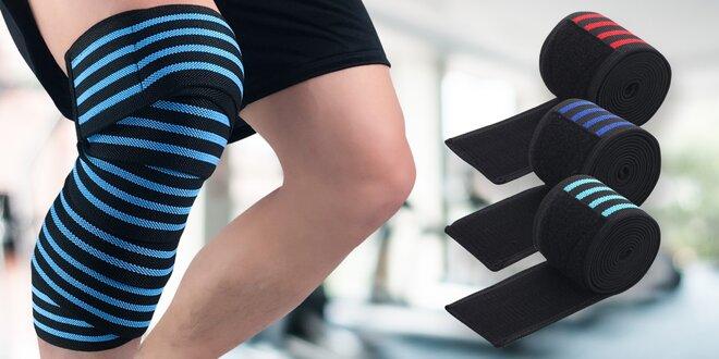 Elastická bandáž kolene: 4 barvy