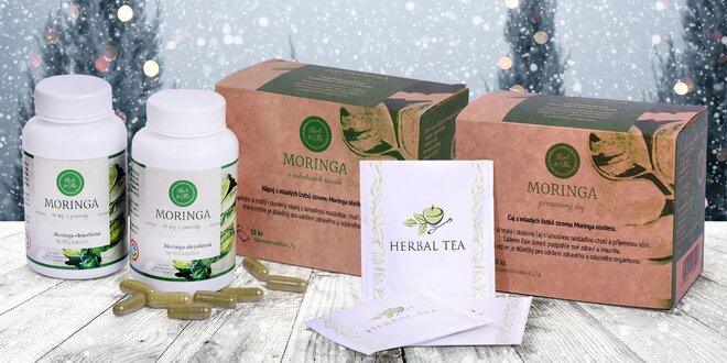 Moringa v čaji nebo veganských kapslích