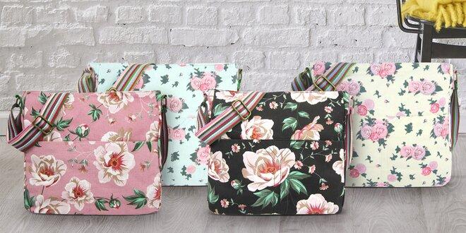 Crossbody tašky s retro květinovým motivem