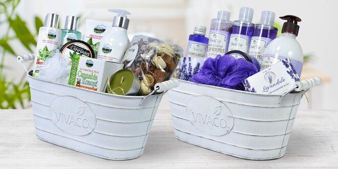 Dárkové balení kosmetiky s konopím a levandulí