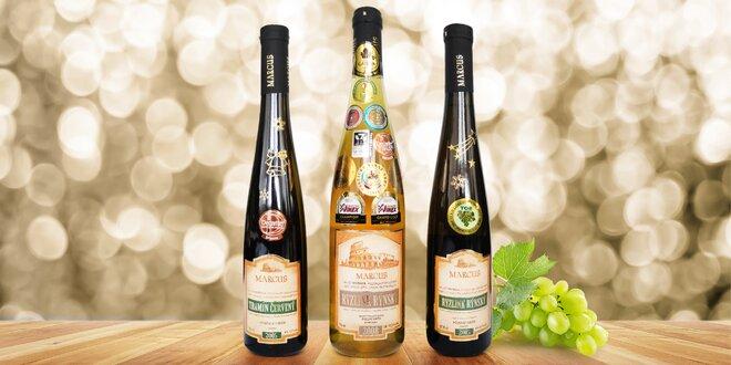 Luxusní set moravských vín ověnčených cenami