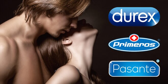 30–100 ks kondomů Durex, Pasante, Primeros i Skyn