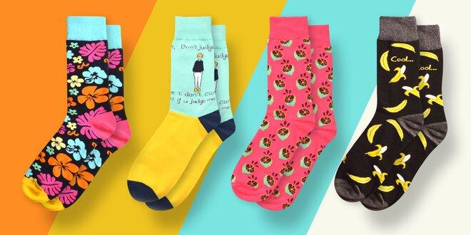 Pánské ponožky Suxo: banány, puzzle i proužky
