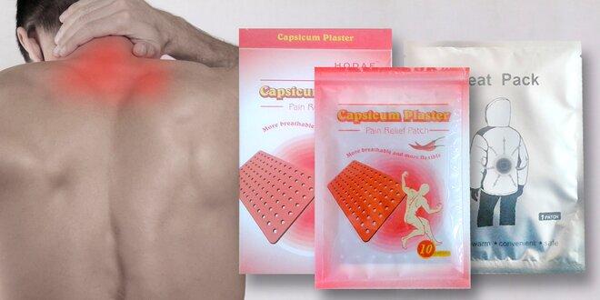 Hřejivé náplasti na bolest zad, svalů a kloubů