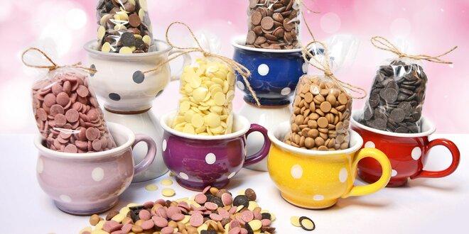 Bucláky s variacemi čokolád: hořká, bílá i mléčná