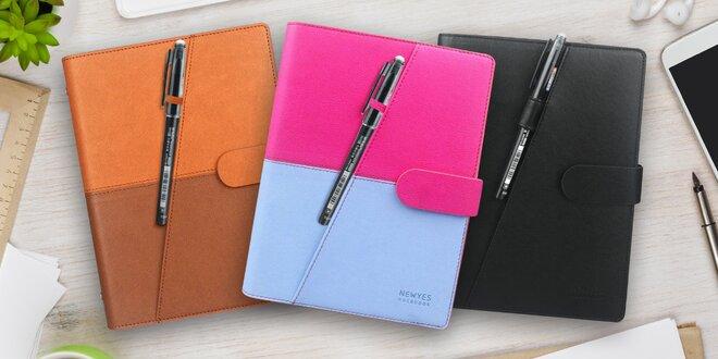 Smazatelný Smart zápisník v koženkových deskách