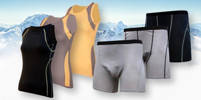 Pánské a dámské antibakteriální funkční spodní prádlo