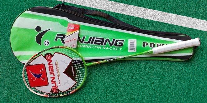 Badmintonová raketa z karbonu, hliníku a oceli