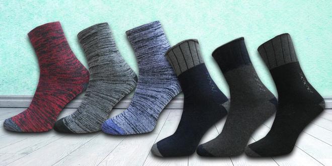 Pánské a dámské zdravotní termo ponožky