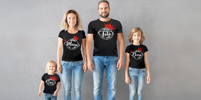 Trička pro děti i dospělé s motivy členů rodiny
