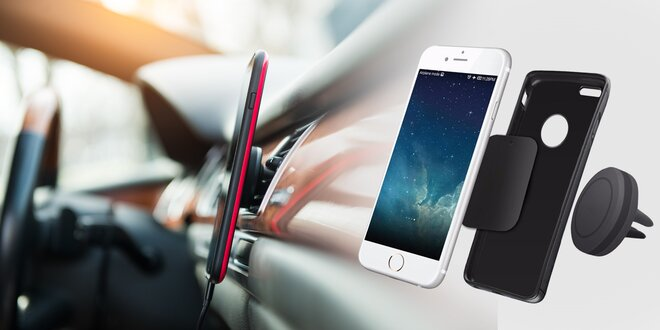 Silný magnetický držák na telefon do ventilátoru
