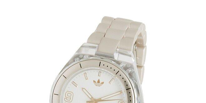 Dámské krémové hodinky Adidas s transparentními detaily