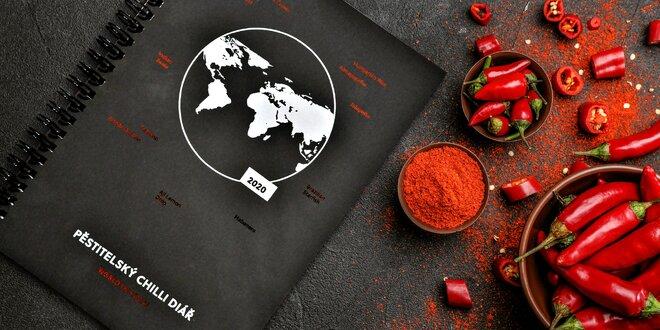 Pěstitelský chilli diář + 25 semínek různých odrůd
