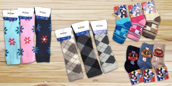 Teplé dětské froté podkolenky a ponožky
