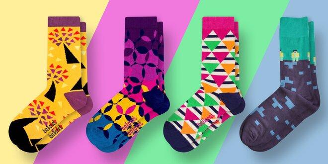 Designové ponožky s různými vzory pro pány i dámy
