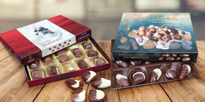 Lahodné čokoládové mořské plody a pralinky