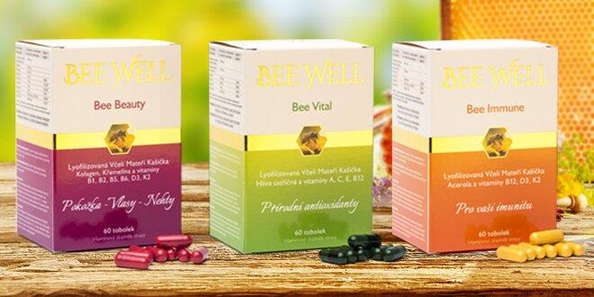 Kapsle s vitamíny a včelí mateří kašičkou