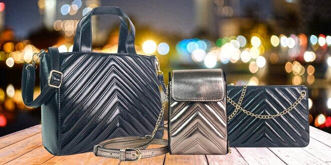 Elegantní kabelky: 3 druhy vč. crossbody