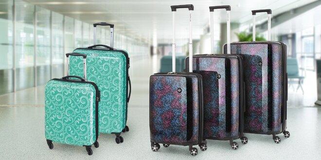 Cestovní skořepinové kufry s TSA zamykáním