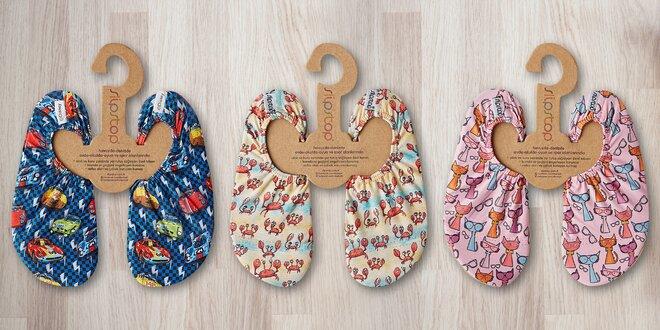 Barefoot ťapky pro děti: 6 veselých vzorů