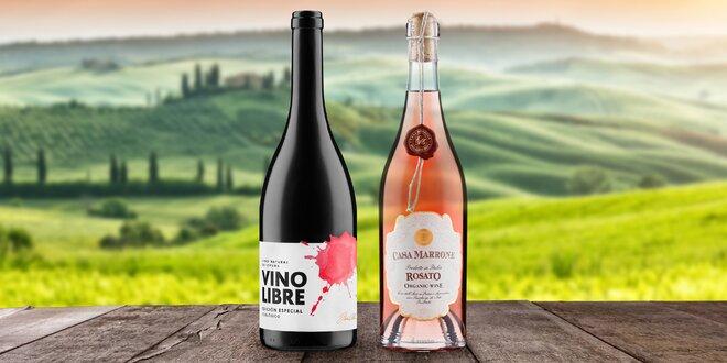 Červená a růžová BIO vína ze Španělska a Itálie