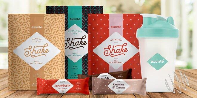 Keto dieta: balíčky se sladkými tyčinkami a shaky