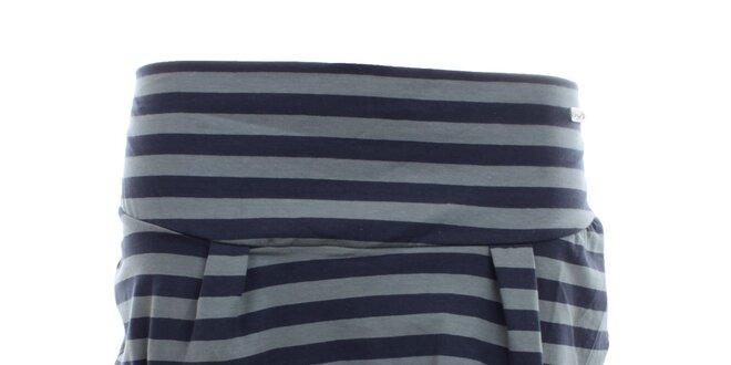 890e19a29f20 Dámská šedo-modrá pruhovaná sukně Exe Jeans
