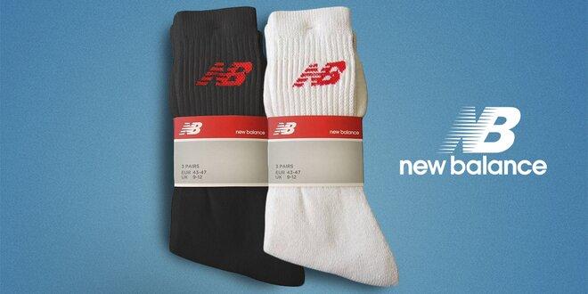 3 páry sportovních ponožek New Balance a KangaROOS