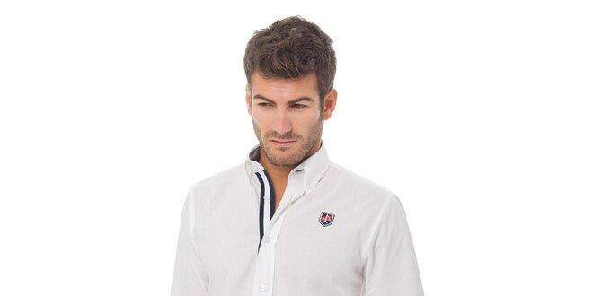 Pánská bílá košile Valecuatro s výšivkou